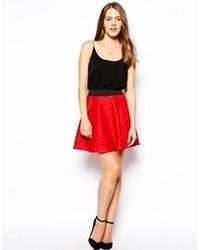 Falda skater roja de AX Paris
