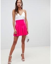 Falda skater rosa de ASOS DESIGN