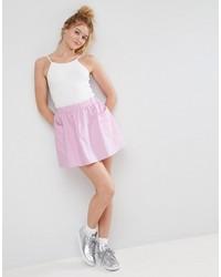 Falda skater rosada de Asos