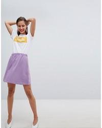 Falda skater violeta claro de Pieces