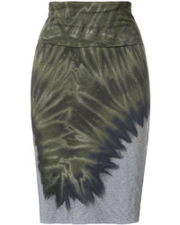 Falda verde oscuro de Raquel Allegra