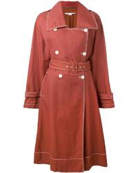 Gabardina de lino roja de Stella McCartney