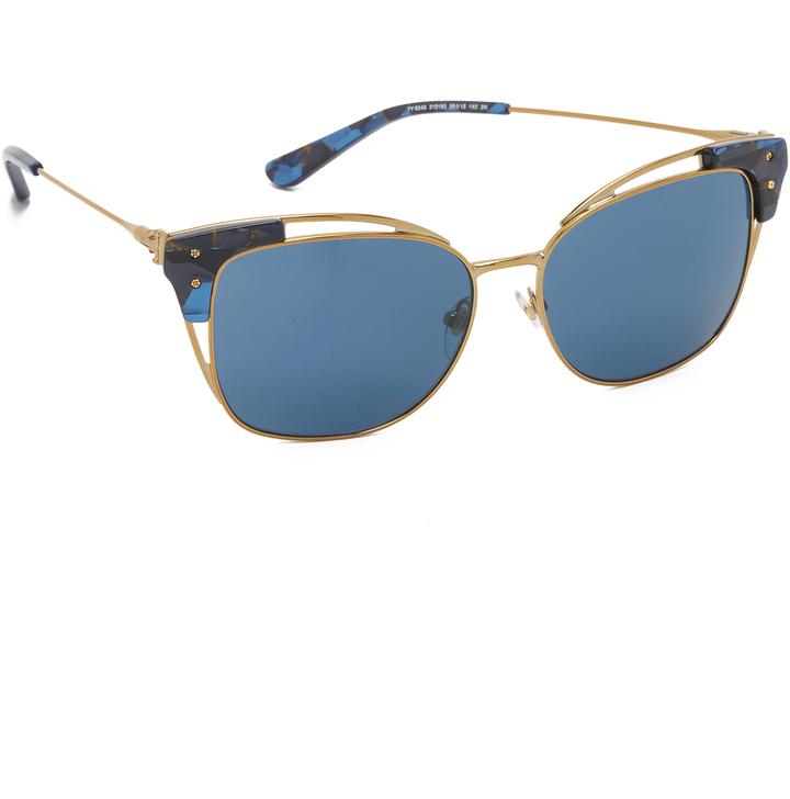 992bc71f42 Gafas de sol azules de Tory Burch, €171 | shopbop.com | Lookastic España