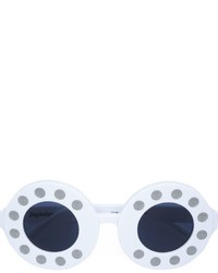 Gafas de sol blancas de Linda Farrow