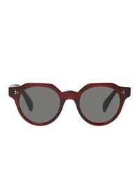 Gafas de sol burdeos de Oliver Peoples