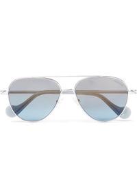 Gafas de sol celestes de Moncler