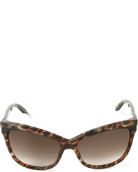 Gafas de sol de leopardo en marrón oscuro de Cat Eye