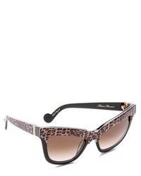 Gafas de sol de leopardo en marrón oscuro de Karlsson