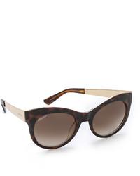 Gafas de Sol de Leopardo Marrón Oscuro de Gucci