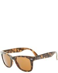 Gafas de Sol de Leopardo Marrón Oscuro de Ray-Ban