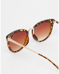 Gafas de sol de leopardo marrónes de Asos