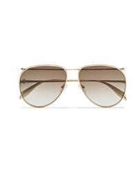 Gafas de sol doradas de Alexander McQueen