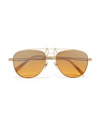 Gafas de sol doradas de Calvin Klein 205W39nyc