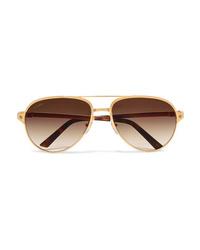 Gafas de sol doradas de Cartier Eyewear