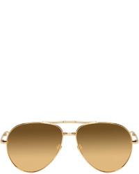 Gafas de sol doradas de Linda Farrow Luxe