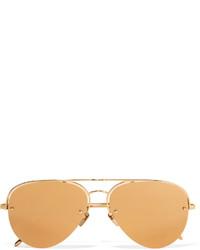 Gafas de sol doradas de Linda Farrow