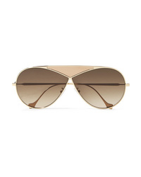 Gafas de sol doradas de Loewe