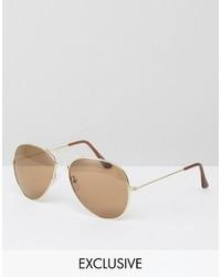 Gafas de sol doradas de Reclaimed Vintage