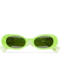 Gafas de sol en amarillo verdoso de Gucci