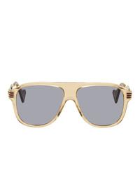 Gafas de sol en beige de Gucci