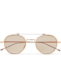 Gafas de sol en beige de Thom Browne