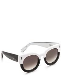Gafas de sol en blanco y negro de Cat Eye