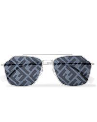 Gafas de sol en gris oscuro de Fendi