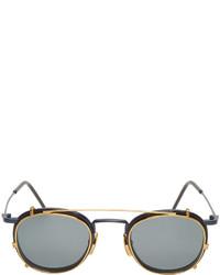 Gafas de sol en gris oscuro de Thom Browne