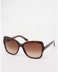 Gafas de sol en marrón oscuro de Dolce & Gabbana