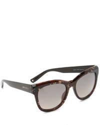 Gafas de sol en marrón oscuro de Jimmy Choo