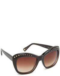 Gafas de sol en marrón oscuro de Oscar de la Renta