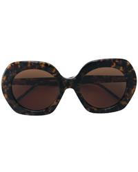 Gafas de sol en marrón oscuro de Thom Browne