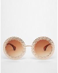 Gafas de sol en marrón y dorado de Asos