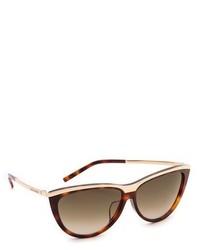Gafas de sol en marrón y dorado de Saint Laurent