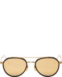 Gafas de sol en marrón y dorado de Thom Browne