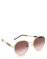 Gafas de sol en marrón y dorado de Wildfox Couture