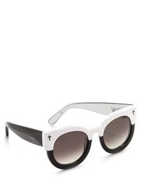 Gafas de sol en negro y blanco de Cat Eye