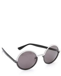 Gafas de sol en negro y blanco de Marc by Marc Jacobs
