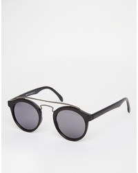 Gafas de sol en negro y dorado de Asos