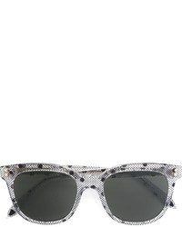 Gafas de sol estampadas en gris oscuro de Victoria Beckham
