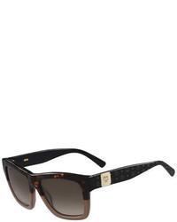 Gafas de sol estampadas en marrón oscuro