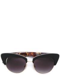 Gafas de sol estampadas negras de Dolce & Gabbana