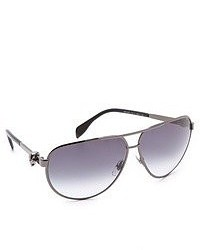 Gafas de sol grises de Alexander McQueen