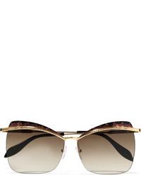 Gafas de sol marrón claro de Alexander McQueen