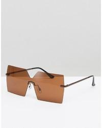 Gafas de sol marrón claro de Asos