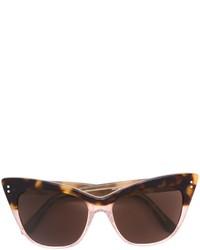 Gafas de Sol Marrón Oscuro de Linda Farrow Gallery