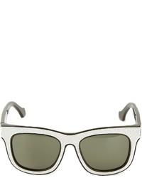 Gafas de Sol Negras y Blancas de Balenciaga