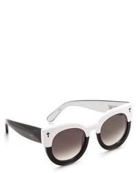 Gafas de Sol Negras y Blancas de Cat Eye
