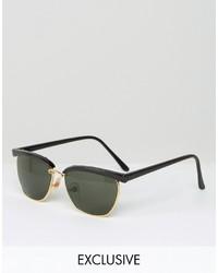 Gafas de sol negras de Reclaimed Vintage