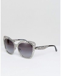 Gafas de sol plateadas de Dolce & Gabbana